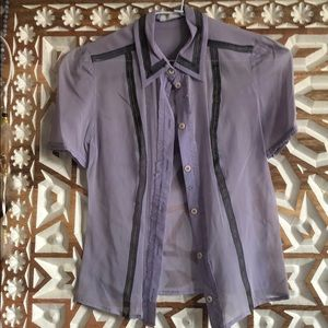 Prada purple blouse